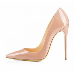 SKYE-120PN Patent Nude Stiletto Heel Pumps