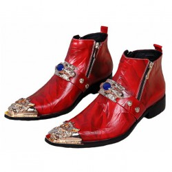 ROCKY-RX Red Men Victorian Costumes Boots
