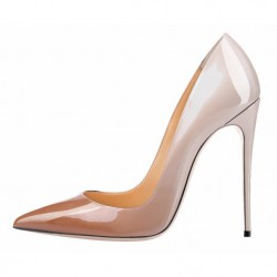 iHeels ELLIE-120BN Stiletto Heel Pumps Fading Beige/Nude