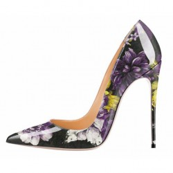 iHeels ELLIE-12PA Party Heels Purple Flora
