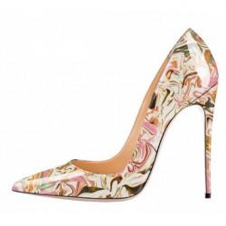 ELLIE Pink Abstract 12cm Stiletto Heel Pumps