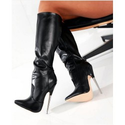 "DAGGER-KB18 Fetish Knee Boots 7.2"" Metal Heel"