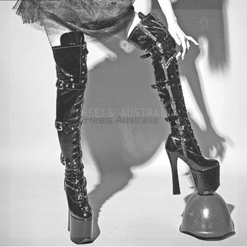 ELECTRA-20TB Gothic Pole Dancing Boots 20cm Heel