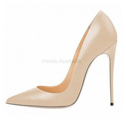 ELLIE-120MP Nude 12cm Stiletto Heel Pumps