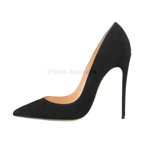 ELLIE-120SU Suede 12cm Stiletto Heel Pumps