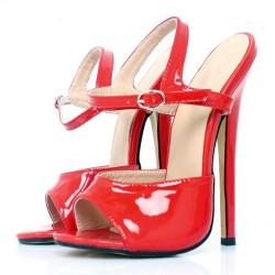 DOMINA-2910 Fetish 18cm Heel Sandals