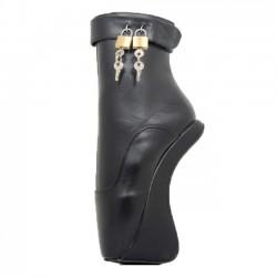 BALLET-63 Lockable Ballet Ankle Boots Heeless