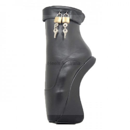 BALLET-63 Lockable Ballet Ankle Boots Heelless