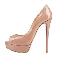 "ELLIE 5.5"" Heel Peep Toe Pumps"