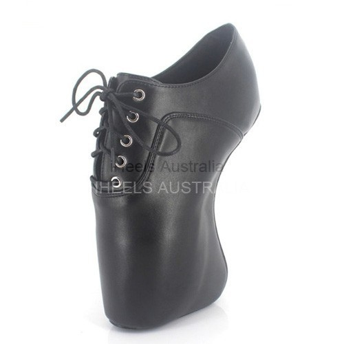BALLET-64 Ballet Shoes Oxford Lace Up Wedge Heelless