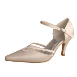 ELLEN-7053 Twisted Strap Pointy Pumps