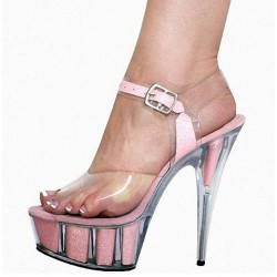 ADORE-1502 Pole Dancing Shoes Glittered Strap Platform Sandals