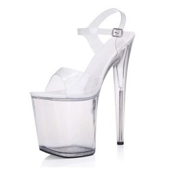Pole Dancing Clear Sandals 20cm Heel 10cm Platform