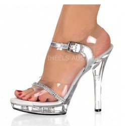 ADORE-SC13 Ankle Strap Silver/Clear