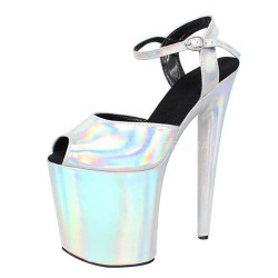 FLAMINGO-20H Silver Hologram Sandals