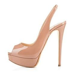 ELLIE-14NU Peep Toe Stiletto Heel Sandals