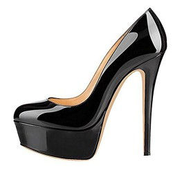 ELLIE-14PB Platform 14cm Stiletto Heel Pumps