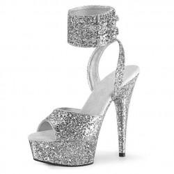 DELIGHT-91LG Glitter Platform 15cm Heel Sandals