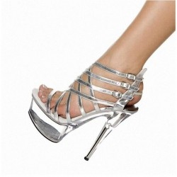 ALLURE-SC1506 Strappy Silver/Clear