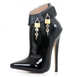 DOMINA-A181 Lockable 18cm Heel Ankle Boots