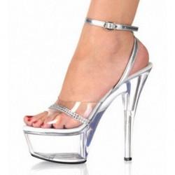 ALLURE-SC151 Glitter Strap Silver/Clear